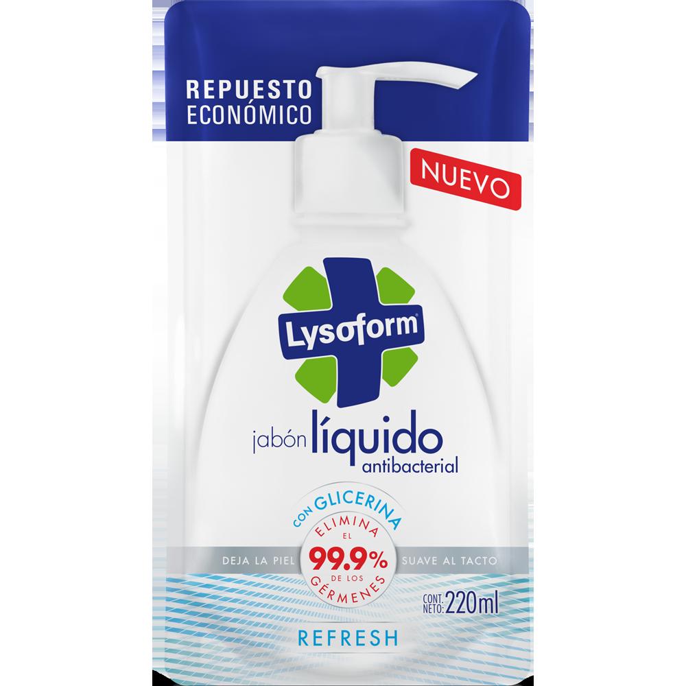 lysoform jabón para manos refresh repuesto 220 ml